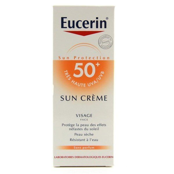eucerin sun creme visage spf 50 peau seche 50 ml tous les produits eucerin sun creme visage. Black Bedroom Furniture Sets. Home Design Ideas