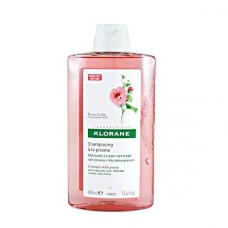 Klorane Capillaire Shampooing Apaisant à la Pivoine 400 ml pas cher, discount