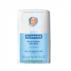 Klorane Bébé Savon Surgras Très Doux Pain 250g