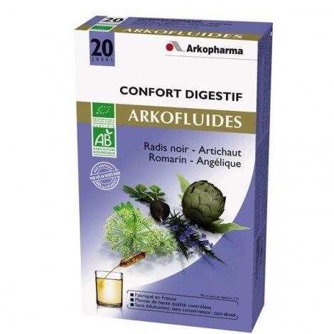 Arkofluide Confort Digestif Bio Ampoules de 15ml x20 pas cher, discount