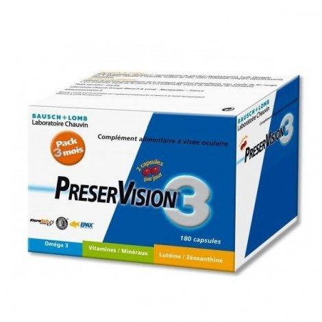 Bausch & Lomb : PreserVision 3 Lot de 3x60 capsules pas cher, discount