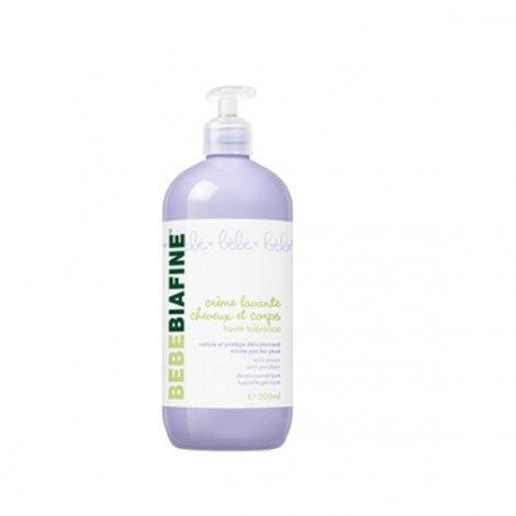Bébé Biafine Crème Lavante Cheveux et Corps Haute Tolérance 500 ml pas cher, discount