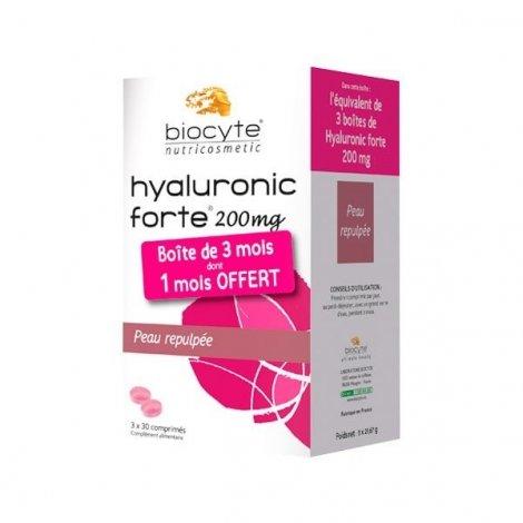 Biocyte Hyaluronic Forte 200 mg 3 Mois dont 1 Mois OFFERT ! Peau Repulpée 3x30 comprimés pas cher, discount