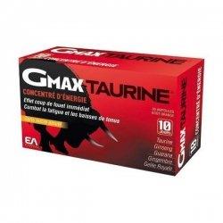 Gmax Taurine + Concentré d'Energie x30 Ampoules 2 Ml