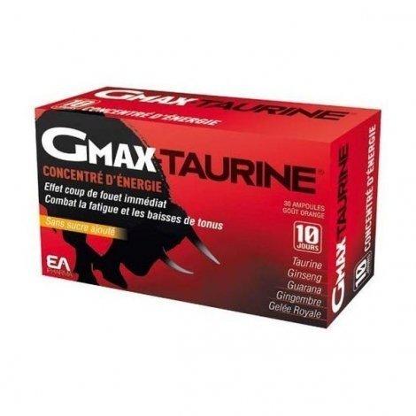 Gmax Taurine + Concentré d'Energie x30 Ampoules 2 Ml pas cher, discount
