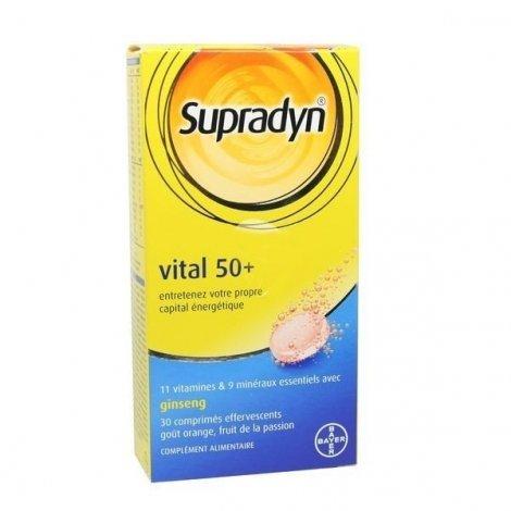 Supradyn Vital 50+ Forme et Vitalité des Séniors x30 comprimés effervescents pas cher, discount