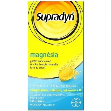 Supradyn Magnésia Anti Stress x30 comprimés effervescents pas cher, discount