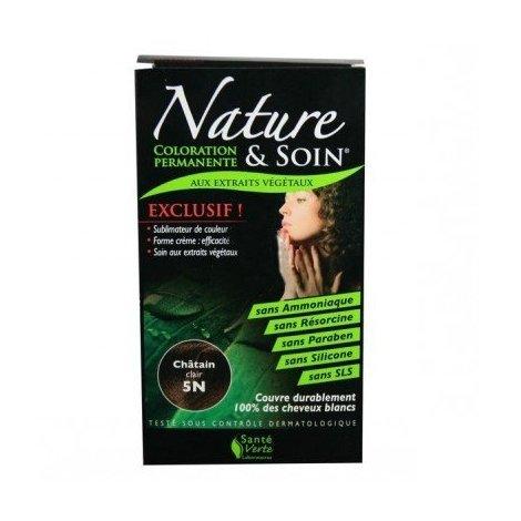 Nature et Soin Coloration Permanente Châtain Clair 5N 129ml pas cher, discount