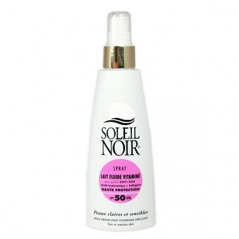 Soleil Noir Lait Fluide Vitaminé Anti Age Spray SPF 50 150ml pas cher, discount