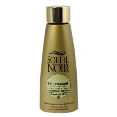 Soleil Noir Lait vitaminé Sublimateur Bronzage Pailleté Or SPF4 150ml pas cher, discount