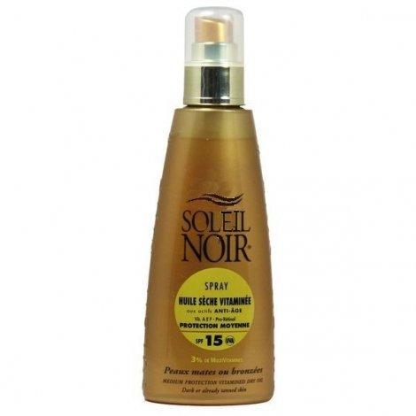 Soleil Noir Spray Huile Sèche Vitaminée Solaire SPF15 150Ml pas cher, discount