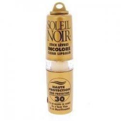 Soleil Noir Stick Lèvres Incolore Haute Protection SPF 30 4g