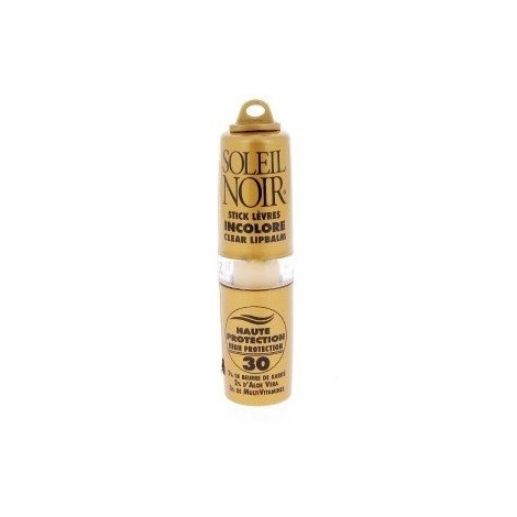 Soleil Noir Stick Lèvres Incolore Haute Protection SPF 30 4g pas cher, discount