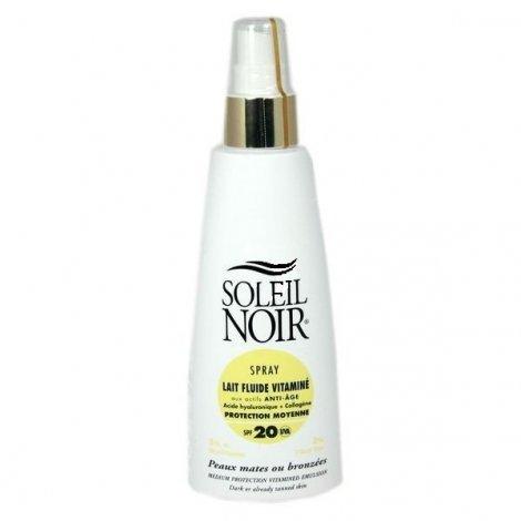 Soleil Noir Lait Fluide Vitaminé Anti Age Spray SPF 20 150ml pas cher, discount