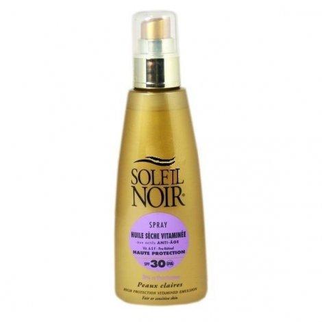 Soleil Noir Spray Huile Sèche Vitaminée Solaire SPF30  150 Ml pas cher, discount