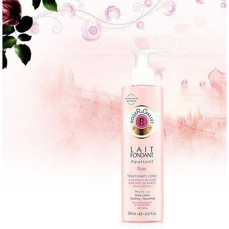 Roger Gallet Rose Lait Hydratant Corps Parfumé 200ml pas cher, discount