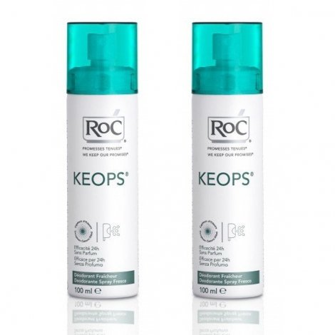 Roc Keops Deodorant Fraicheur Transpiration Moderee Spray Lot 2 X 100 Ml pas cher, discount