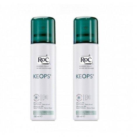 Roc Keops Déodorant Sec Transpiration Abondante Duo 150 ml X 2 pas cher, discount