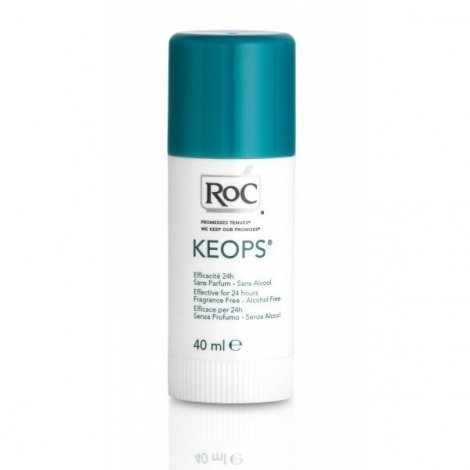 Roc Keops Deodorant Stick 24H Transpiration Moderee 40 Ml pas cher, discount
