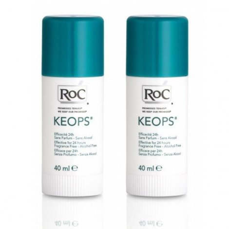 Roc Keops Deodorant Stick 24H Transpiration Moderee Lot 2 X 40 Ml pas cher, discount