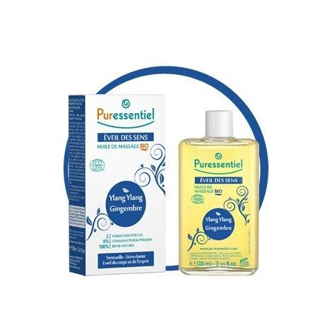 Puressentiel Eveil des Sens : Huile de Massage Bio 100 ml pas cher, discount