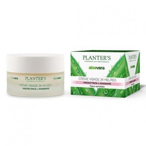 Planter's Crème visage 24 Heures Protectrice Adoucissante Peaux Sensibles 50ml pas cher, discount