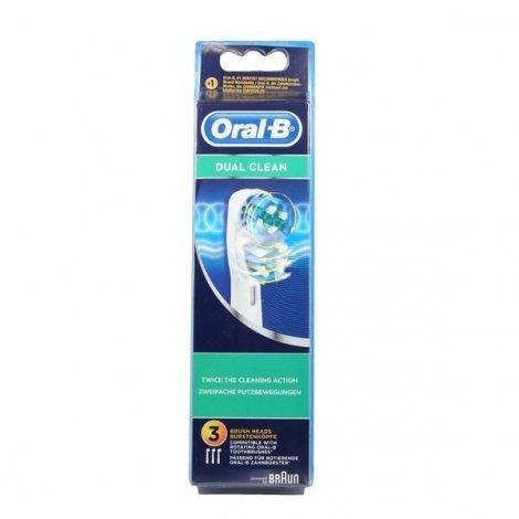 Oral-B Dual Clean EB41 x 3 Têtes de Nettoyage pas cher, discount