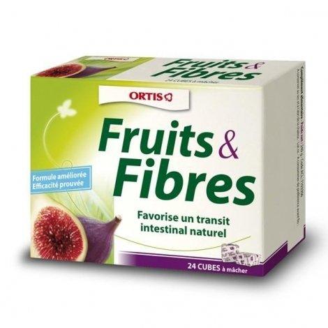 Fruits & fibres Ortis 24 cubes transit intestinal pas cher, discount