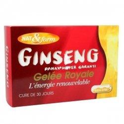 Ginseng + Gelée Royale Panax Meyer Nat&Form 30 ampoules 10ml