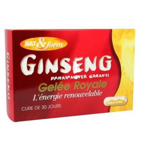 Ginseng + Gelée Royale Panax Meyer Nat&Form 30 ampoules 10ml pas cher, discount