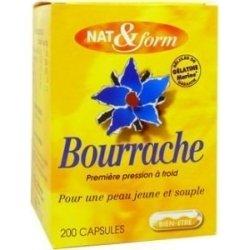 NAT&FORM Huile de Bourrache x200 capsules pas cher, discount
