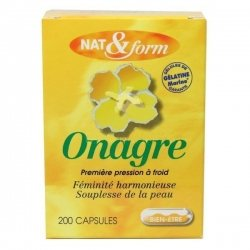 NAT&FORM Huile d'Onagre  x200 capsules