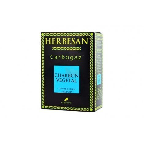 Herbesan Carbogaz Charbon Végétal x45 gélules pas cher, discount