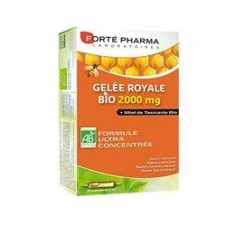 Gelée Royale 2000 mg Forte Pharma 100% d'Actifs d'Origine Naturelle 20 ampoules de 15 ml