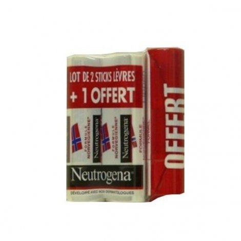 Neutrogena Sticks Levres Lot de 2 + 1 Offert ! pas cher, discount