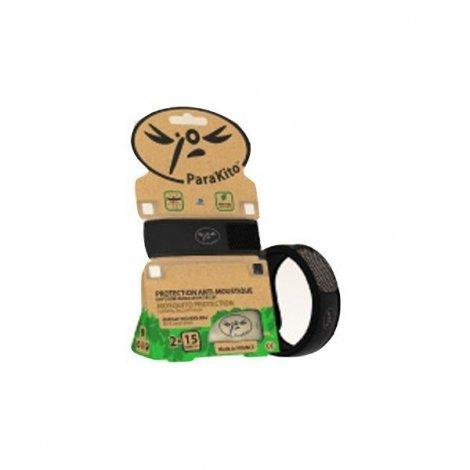 Para'Kito Bracelet Anti-Moustique Noir Répulsif Naturel pas cher, discount