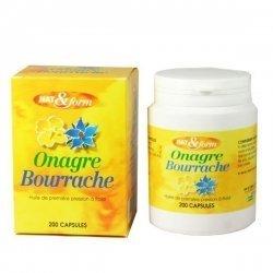 NAT&FORM Huile d'Onagre et de Bourrache  x200 capsules