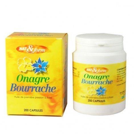 NAT&FORM Huile d'Onagre et de Bourrache x200 capsules pas cher, discount