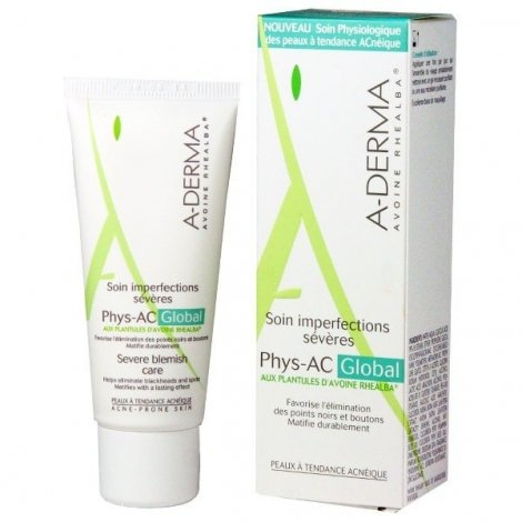 Aderma Soin Imperfections Sévères Phys-AC Global 40ml pas cher, discount