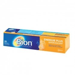 Bion Energie Plus Effervescent 20 comprimés Effervescents Goût Orange