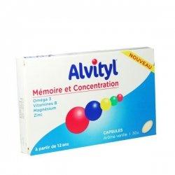 Alvityl Mémoire et Concentration x30 Capsules