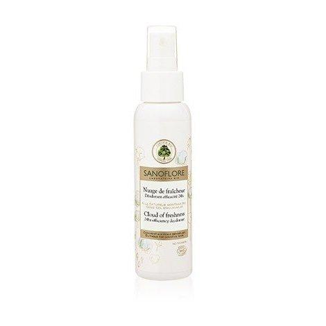Sanoflore Deodorant Nuage de Fraîcheur 24H Brume Sans Sel D'Aluminium Bio 100 ml pas cher, discount