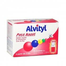 Alvityl Petit Boost Gelée Royale 10 Vitamines et Minéraux 8 Flacons de 10 ml