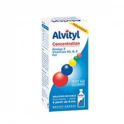 Alvityl Concentration Solution Buvable Goût Pêche 150 ml