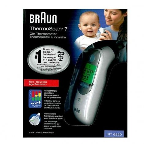 Braun Thermomètre Auriculaire Thermoscan 7 Age Precision IRT6520 pas cher, discount