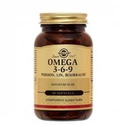 Solgar Omega 3-6-9 Poisson Lin Bourrache 60 Capsules pas cher, discount