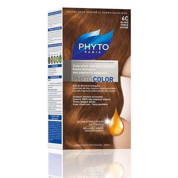 phytocolor coloration permanente blond fonc cuivr 6c tous les produits phytocolor coloration. Black Bedroom Furniture Sets. Home Design Ideas