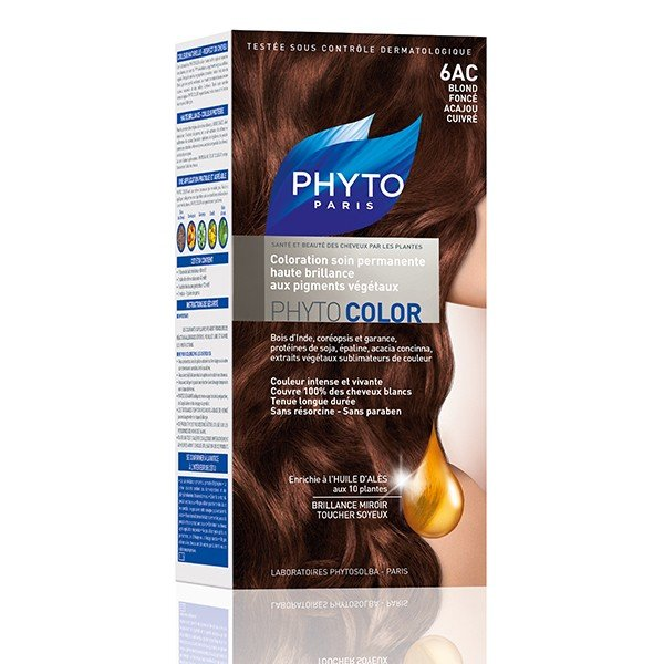 phytocolor coloration permanente blond fonc acajou cuivre 6ac tous les produits phytocolor. Black Bedroom Furniture Sets. Home Design Ideas
