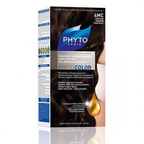 Phytocolor Coloration Permanente Châtain Marron Chocolat 4MC pas cher, discount