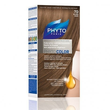 Phyto Color Coloration Permanente Blond Doré 7D pas cher, discount